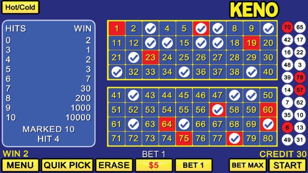 The Casino Keno Game